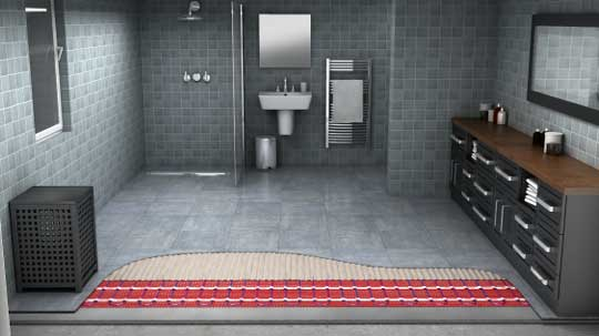 underfloor heating in the bathroom