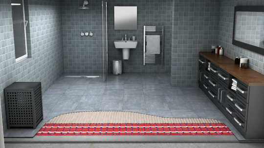 underfloor heating for bathroom