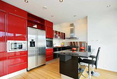 kitchen without radiators