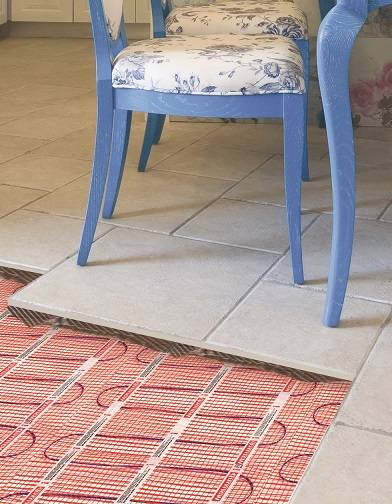 tile flooring with under heating