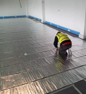underfloor heating insulated underlay installation